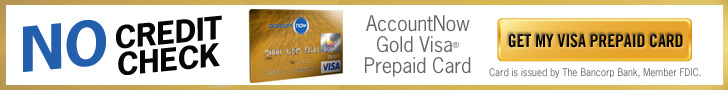 AccountNow Prepaid Gold Visa Card