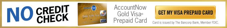 AccountNow Prepaid Gold Visa Card