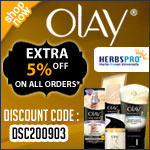 Olay Specials - Additional 5% Off on all orders