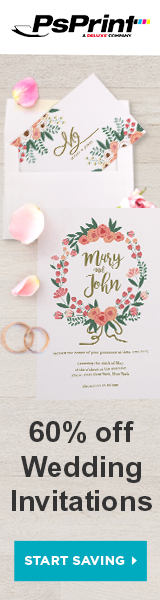 Save 60% off Wedding Invitations from PsPrint!