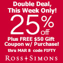 Valentine's Day Sale! 30% Off Sitewide  at Ross-Simons.com!