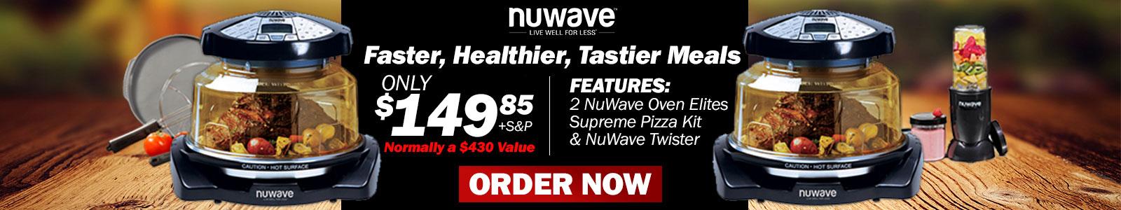NuWave Oven Elite BOGO plus Supreme Pizza Kit, & NuWave Twister