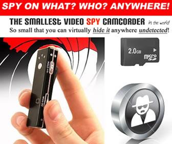 World's Smallest Micro Spy Video Recorder w/ FREE
