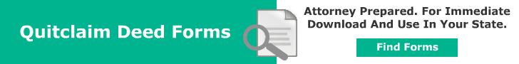 Quitclaim Deeds Legal Forms