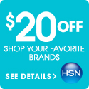 $20 off your next order of $40 or more from HSN! Use code: 151253