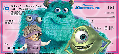 Monsters, Inc. Personal Checks
