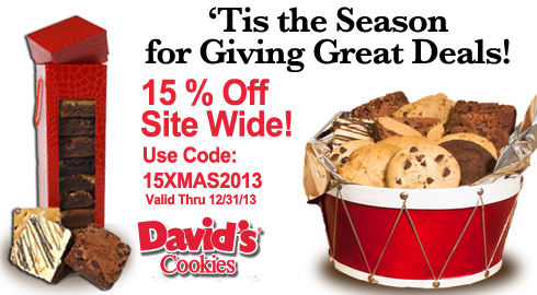 David's Cookies: 15% off Sitewide Code 15XMAS2013 Exp 12/31/13