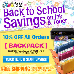 Take an Additional 10% off our inkjet cartridges