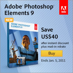 Save $40 on Adobe Photoshop Elements 9