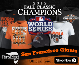 2012 Giants World Series Gear