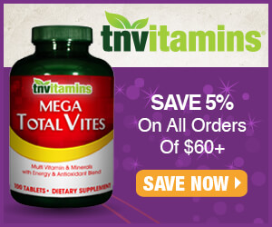 TNVitamins | Save 5% On All Orders Of $60+ | Save Now