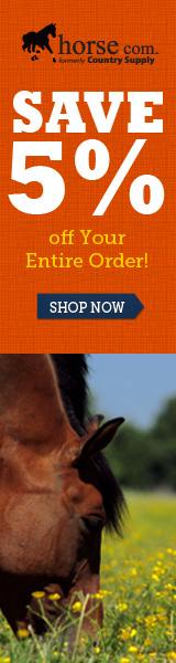5% off Any Size order on Horse.com