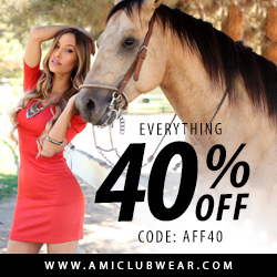 Save 40% off site wide at AMI club wear Downtown CT