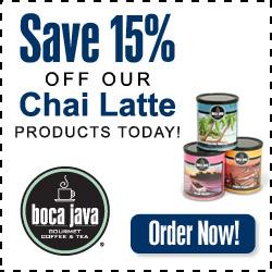 15% off Chai Latte
