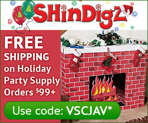 Free shipping on Holiday Party orders $85+.