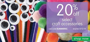 Save 20% Off Select Arts & Crafts + Get Free Shipping On Orders Over $99!