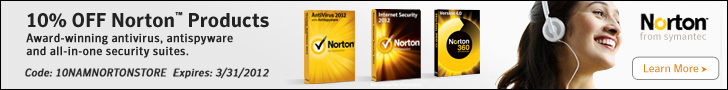 10% off Norton Products with code 10NAMNORTONSTORE