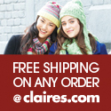 Free Shipping on Any Order @ Claires.com