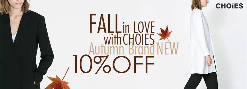 Autumn New-in 10% Off at Choies & free shipping