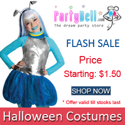 PartyBell Flash Sale: Get upto 80% Off on selective Halloween Costumes. Offer valid till stocks last