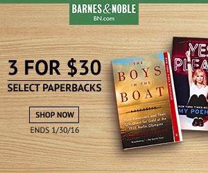 B&N Paperbacks 3 for $30