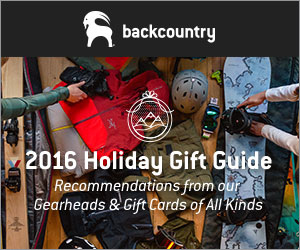 2016 Holiday Gift Guide from Backcountry