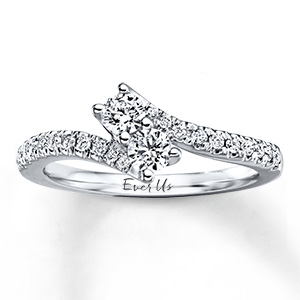 Ever Us two-stone diamond wedding ring