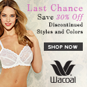Wacoal sale up to 30% off!