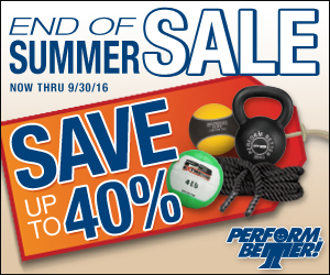 Perform Better's End of Summer Sale!