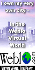 Own a Virtual City in the Weblo Virtual World