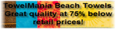 Save big on TowelMania's Luxury Beach towels