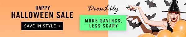 Dresslily Halloween SALE: 8% OFF $20+, 10% OFF $30+, 15% OFF $50