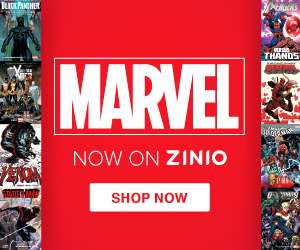 MARVEL Now on Zinio 300X250