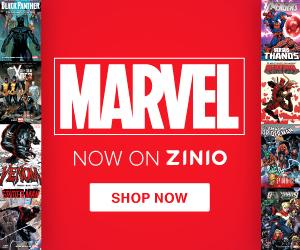 MARVEL Now on Zinio 300X250