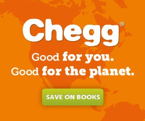Chegg. Good for you. Good for the planet. 300x250