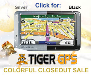Tiger GPS 2009 Colorful Closeout Sale
