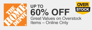 Save up to 60%! Great values on overstock items!!S