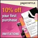10% off your first purchase at PaperStyle.com!