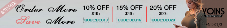 10% off $19+ & 15% off $49+ &20% off $99+ for sidewide