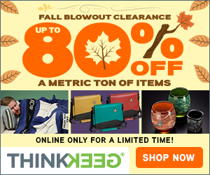 ThinkGeek - Fall Clearance Sale!