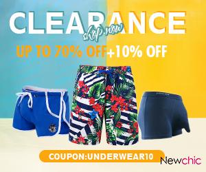 Up to 70% off + 10% off Men's Underwear