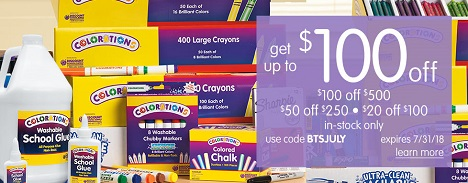 Save Up To $100 OFF Plus Free Shipping On Orders Over $99 - At Discount School Supply!