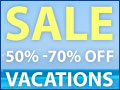 50% - 70% Off Vacations