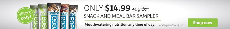 Vega Snack and Meal Bar Bundle $14.99