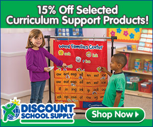 Save 15% On Select Curriculum Support Products At DiscountSchoolSupply.com!