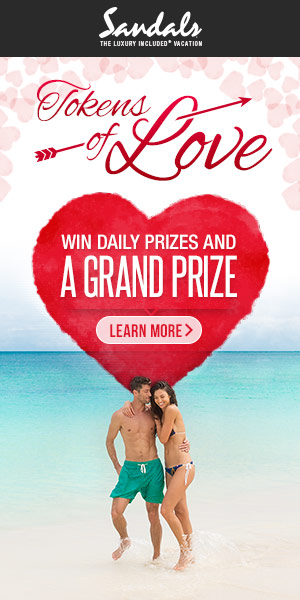 Valentine's giveaway: Win 4 days/3 nights to a Sandals or Beaches Resorts!