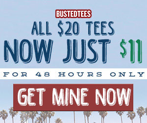 $12.99 tees at BustedTees.com!