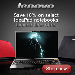 18% off all Ideapad notebooks