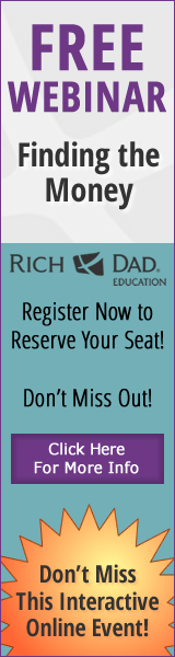 Rich Dad Education Finding the Money Webinar - Register Now!