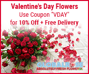flowers, spice up Valentine's Day with flowers from Globalrose.com